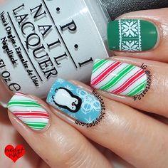 christmas by heartnat24 #nail #nails #nailart