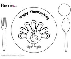 Free Kid\'s Thanksgiving Placemats | Thanksgiving placemats ...