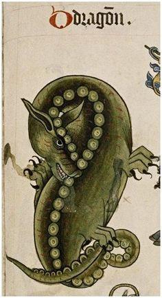 Tudor Pattern Book Bodely MS Ashmole 1504  Dragon - Yale Center for British Art, HHB, Folio 17v