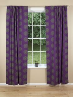 Modern curtains & drapes for every window in your home. Searching for contemporary chic or trendy and upbeat? Contemporary Curtains, Contemporary Bedroom Furniture, Contemporary Furniture, Eclectic Curtains, Modern Curtains, Purple Curtains, Drapes Curtains, Playroom Curtains, Living Room Colors