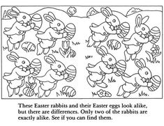 Puzzle page - sample from '10 Easter Fun Books: Stickers, Stencils, Tattoos and More' via Dover Publications ~s~