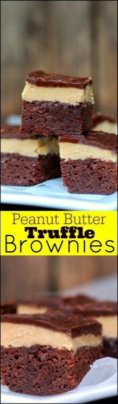 These Peanut Butter Truffle Brownies are a Reese's Cup lovers DREAM!