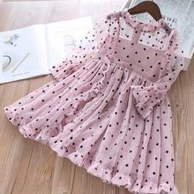 Only Today Baby girl dress Autumn Mesh Dots Long Sleeve Children Princess Dress Casual Elegant Kids Dress Baby Special Edition! Baby Girl Party Dresses, Toddler Girl Dresses, Little Girl Dresses, Baby Dress, Girls Dresses, Toddler Girls, Dresses For Toddlers, Cute Toddler Girl Clothes, Kids Summer Dresses