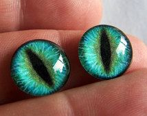 Glass eyes 14mm dragon eyes for fantasy dolls and sculpture