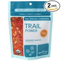 Navitas Naturals Trail Power Organic Goji, Mulberry And Incan Golden Berry Trail Mix, 8-Ounce Bags (Pack of 2)
