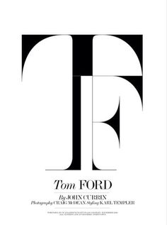 tom ford, typography ,graphic
