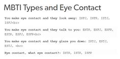 mbti and eye contact