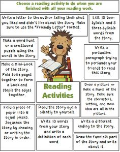 Reading Activities for the Classroom