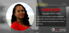 #CheersTo Uche Pedro for being courageous enough to follow her dream and making something special out of her hobby. This confident media entrepreneur has made Nigeria proud!