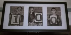 for a 100th birthday party...each great-grandchild held a framed number..