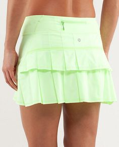 Lululemon Run: Pace Setter Skirt (Regular) Petit Dot Faded Zap / Faded Zap. Size Color is more like cover shot. Tennis Outfits, Tennis Skirts, Tennis Clothes, Golf Outfit, Tennis Gear, Cute Skirts, Casual Skirts, Skirt Outfits, Dress Skirt