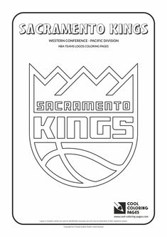 Cool Coloring Pages - NBA Basketball Clubs Logos - Western Conference - Pacific…