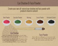 Make-up / maquillage / Lidschatten / Gesichtspuder / Lidstrich / Mascara / diy / nat . Diy Eyeshadow, Natural Eyeshadow, Natural Makeup, Natural Cosmetics, Bio Make Up, Sombra Natural, Make Your Own Makeup, Beauty Hacks For Teens, Homemade Cosmetics