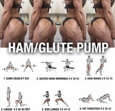 Best Ham And Glute Pump ! Healthy Fitness Workout Plan