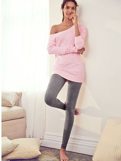 Fleece Off-the-Shoulder Tunic Victoria's Secret I love the look of this top. I think I'm going to have to buy it> Just wish the price wasn't $40 some dollars ♥♥