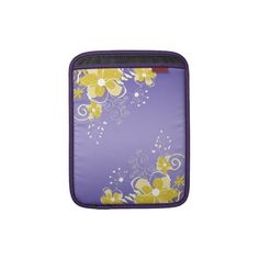 Abstract Yellow Flowers Purple Background Ipad