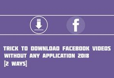 👉 (2 Ways) Trick To Download Facebook Videos Without Any Application 2018:  Link - http://airteltrickz.net/2-ways-download-facebook-videos-without-any-application-2018