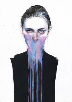 Retratos em aquarela de Agnes Cecile Watercolor Portraits, Watercolor Tattoo, Watercolor Paintings, Watercolors, Gcse Art, Female Head, Female Face, Art Anxiety, Silvia Pelissero
