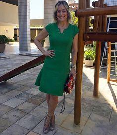 Vestido básico e fresh da @estilofeitico - ameeei! #andreafialho #estiloandreafialho #estilofeitico