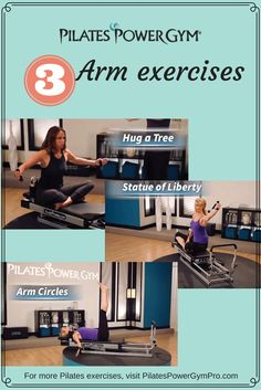 Pilates Workout Reformer: Check out these arm exercises on the Pilates Power. - Pilates Workout Reformer: Check out these arm exercises on the Pilates Power… Pilates Workout Ref - Pilates Challenge, Pilates Workout Routine, Pilates Reformer Exercises, Gym Workouts, Arm Exercises, Pilates Body, Acro, Gym Weight Machines, Pilates Machine