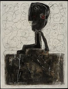 'Case of Potentials' (2009) by German outsider artist Alexandra Huber (b.1955). 25 x 29 in. via art brut