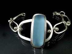 Retro Oval Bracelet: Amy Faust: Art Glass Bracelet - Artful Home