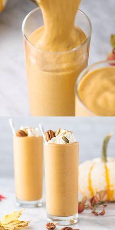 Fruit Smoothie Recipes, Vegan Smoothies, Smoothie Diet, Dessert Recipes, Tasty Videos, Eating Organic, Pumpkin Spice Latte, Diet And Nutrition, Coffee Detox