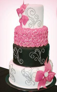 Very girly cake! LOVE IT