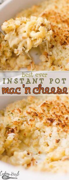 Instant Pot Mac 'n Cheese is equally fast and delicious! Perfectly cooked pasta, from scratch sauce and a crispy breadcrumb topping will knock your socks off! Perfect for ages with Karli- mac and cheese Instant Pot Mac 'n Cheese - Cooking With Karli Instant Pot Mac And Cheese Recipe, Crockpot Mac N Cheese Recipe, Best Instant Pot Recipe, Instant Pot Dinner Recipes, Pasta Sauce Instant Pot, Recipes Dinner, Instant Pot Baby Food, Macaroni Recipes, Pasta Recipes