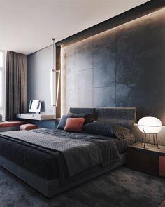 Master Bedroom on Behance Luxury Bedroom Design, Master Bedroom Design, Home Bedroom, Bedroom Decor, Bedroom Ideas, Home Interior, Interior Design, Suites, Luxurious Bedrooms