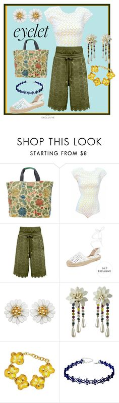 """""""Eyelet 1"""" by roquinn ❤ liked on Polyvore featuring Dolce&Gabbana, Puma, Maiden Lane, Oscar de la Renta, WithChic and eyelet"""