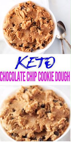 Grab a spoon! Are you ready for the best keto cookie dough? Yes, edible low carb keto cookie dough for a ketogenic diet. A simple keto cookie dough recipe for a tasty and delicious dessert… Low Carb Cookie Dough, Cookie Dough For One, Cookie Dough Recipes, Edible Cookie Dough, Cookie Diet, Cookie Bowls, Low Carb Chocolate Chip Cookies, Keto Chocolate Chips, Chocolate Chip Cookie Dough