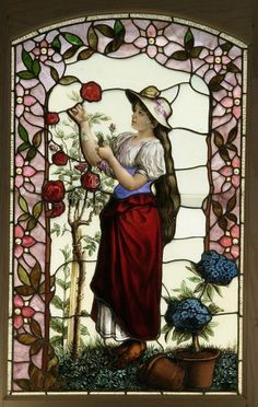 The Antique Traders > American Stained Glass Window latique.com
