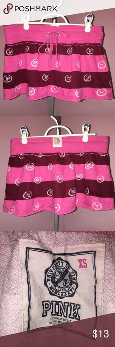 Victoria's Secret PINK Skirt Size XS Super Cute Size XS Victoria's Secret PINK Skirt in Great Condition- No Stains or Holes. 90% Cotton 10% Polyester. PINK Victoria's Secret Skirts Mini