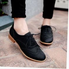 Details about Brogue Women Lace Up Wing Tip Oxford College Style Flat Fashion Sh. - Details about Brogue Women Lace Up Wing Tip Oxford College Style Flat Fashion Shoes Big Size - Cute Shoes, Me Too Shoes, Pretty Shoes, Oxford College, College Shoes, College Fashion, College Style, Fashion Flats, Flats