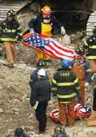 ~ found a body and they covered it when brought out 11 September 2001, Remembering September 11th, We Will Never Forget, Lest We Forget, World Trade Center, Bodies, Creepy, Sad Day, Conspiracy Theories
