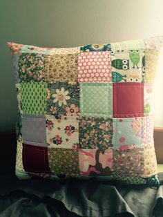 Custom made quilted memory pillow cover, baby clothes quilt, deceased loved one memoir pillow, made from beloved clothes and fabric by Tshirtpillow on Etsy