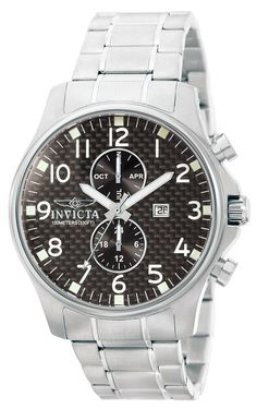 Latest Invicta Men's Chronograph Quarz Watch with Stainless Steel Strap 379 Vintage Watches For Men, Best Watches For Men, Bracelets For Men, Silver Bracelets, Silver Earrings, Silver Rings With Stones, Silver Ring Designs, Wholesale Silver Jewelry, Rubber Watches