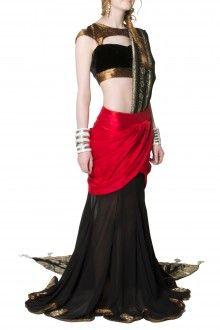 Mani Jassal Mermaid Style Lehenga - www.scarletbindi.com