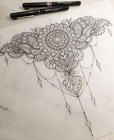 Decorative Piece For Tasha Art Design Penandink Handdrawn Future Tattoos, Love Tattoos, Beautiful Tattoos, Body Art Tattoos, New Tattoos, Tattoo Drawings, Tattoos For Women, Henna Designs, Tattoo Designs