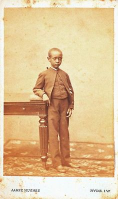 July 1878 - Ryde - This is a photograph of seven-year-old Prince Dejatch Alamayou (1861–1879) taken on the Isle of Wight.
