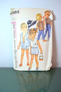 1960s Vintage Simplicity Pattern 5984 Childs by TabbysVintageShop, $6.00