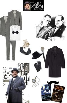 """""""Hercule Poirot"""" by mchankins ❤ liked on Polyvore"""