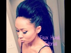 Quick and Easy - Faux Hawk for Long Hair