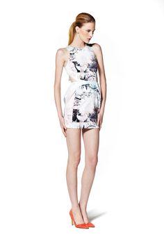 'White Suede' Angular tulip dress