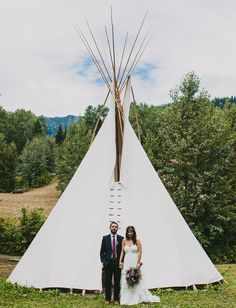 First look in front of a tipi!