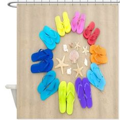 Beach Flip Flops Shower Curtain 155