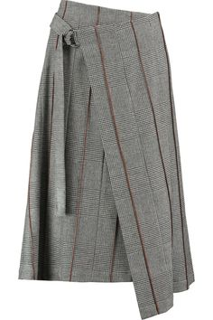 Shop on-sale Brunello Cucinelli Wrap-effect houndstooth wool and cashmere-blend midi skirt. Browse other discount designer Skirts & more on The Most Fashionable Fashion Outlet, THE OUTNET. Desert Clothing, Long Skirt Fashion, Clothes For Sale, Clothes For Women, Discount Designer Clothes, Work Wardrobe, Mode Inspiration, Fashion Outlet, Skirt Outfits