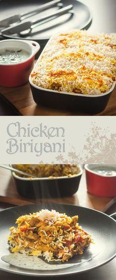 Layered Chicken Biriyani Recipe: Like all good Biriyani my Chicken Biriyani is a labour of love, set aside a couple of hours and revel in the rich and deep Indian Spices. Turkey Recipes, Rice Recipes, Indian Food Recipes, Asian Recipes, Chicken Recipes, Dinner Recipes, Cooking Recipes, Chicken Biryani Recipe In Oven, Easy Cooking