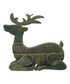 Love this Laying Wood Reindeer on #zulily! #zulilyfinds